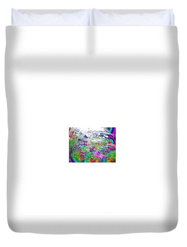 Garden Duvet Cover featuring the photograph Magic Garden by Susan Baker