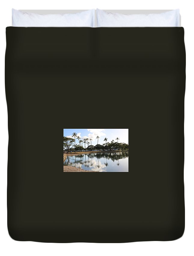 Reflections Duvet Cover featuring the photograph Magic Island by Charlie Latham