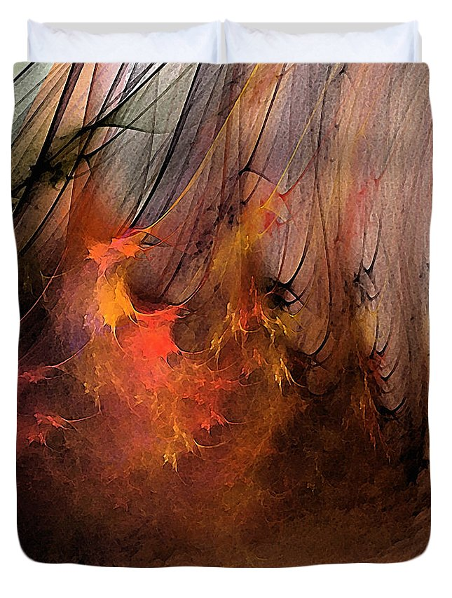 Abstract Duvet Cover featuring the digital art Magic by Karin Kuhlmann