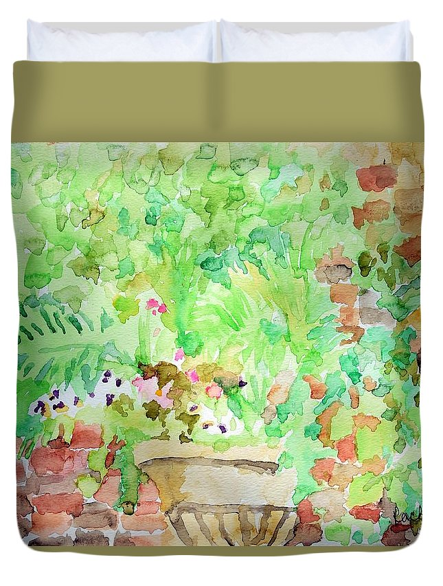 Water Color Duvet Cover featuring the painting Magic Time At Craig Sole's by Rachel Rose