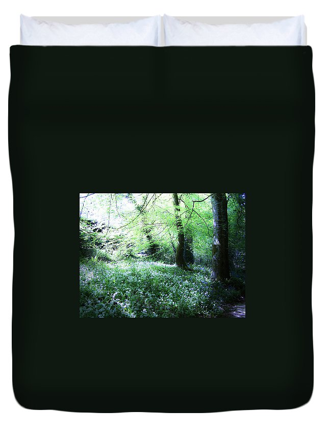 Irish Duvet Cover featuring the photograph Magical Forest At Blarney Castle Ireland by Teresa Mucha