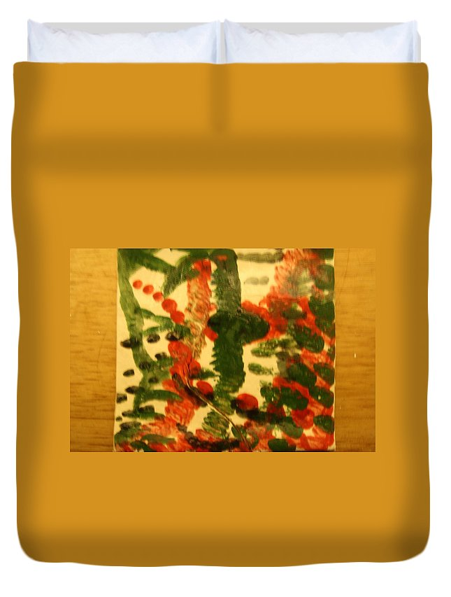 Jesus Duvet Cover featuring the ceramic art Magnetic - Tile by Gloria Ssali