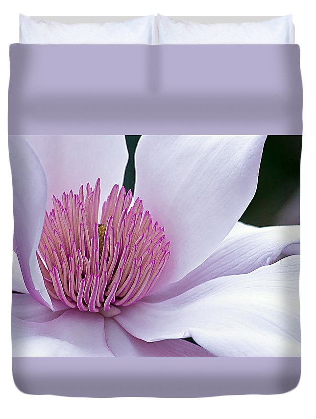 Magnolia Duvet Cover featuring the photograph Magnolia 06 by Emerald Studio Photography