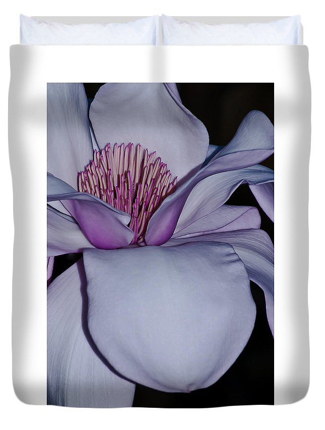 Magnolia Duvet Cover featuring the photograph Magnolia Blossom by Emerald Studio Photography