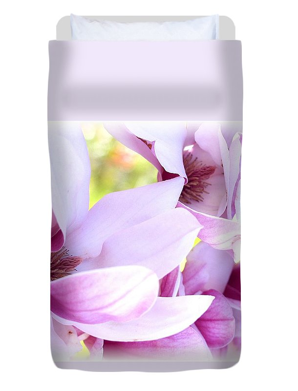Magnolia Duvet Cover featuring the photograph Magnolia Time by Carol Sweetwood