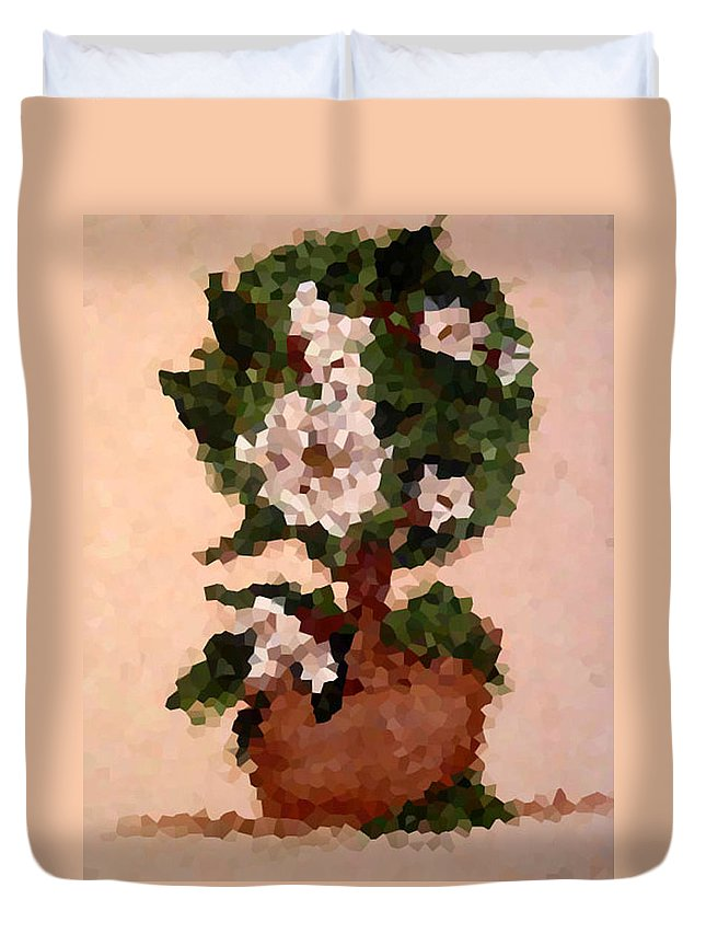 Digital Photo Duvet Cover featuring the digital art Magnolia Topiary IIi by Barbara Griffin
