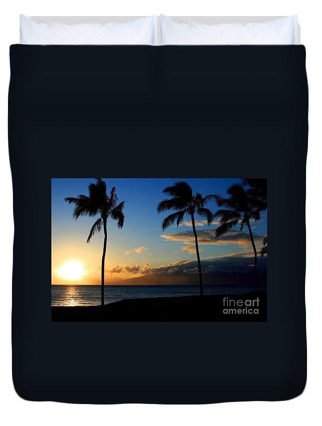 Aloha Duvet Cover featuring the photograph Mai Ka Aina Mai Ke Kai Kaanapali Maui Hawaii by Sharon Mau