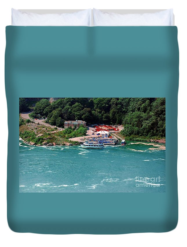 Maid Duvet Cover featuring the photograph Maid Of The Mist by Kathleen Struckle