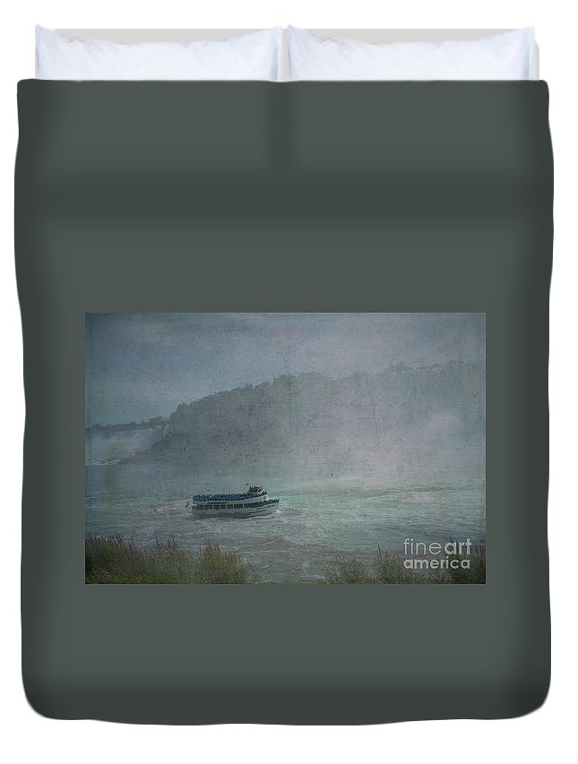 Maid Of The Mist Duvet Cover featuring the photograph Maid Of The Mist by Luther Fine Art