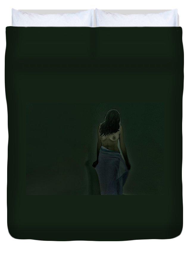 Nude Duvet Cover featuring the photograph Maidenhood by Vanshik Maheshwari