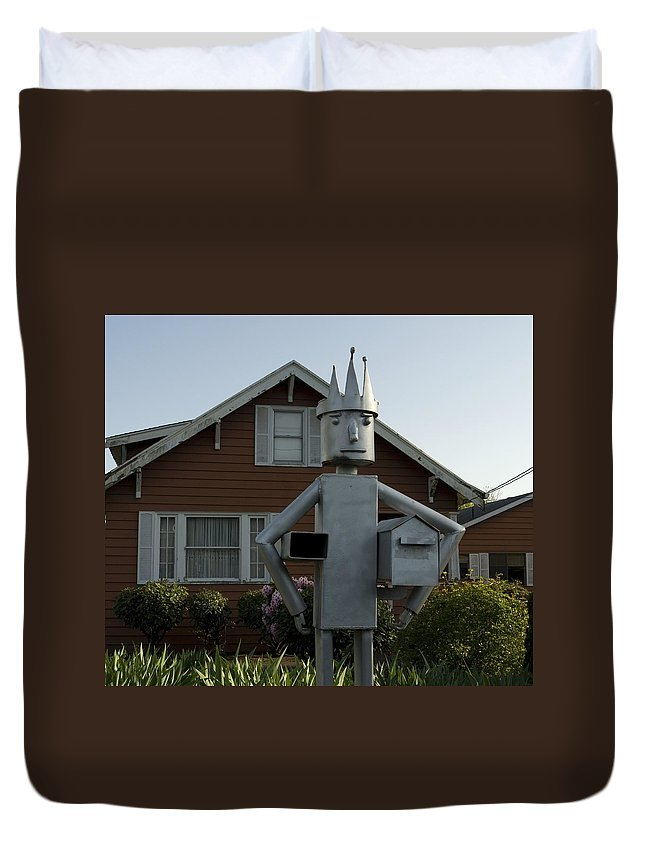 Mail Duvet Cover featuring the photograph Mailbox King by Sara Stevenson