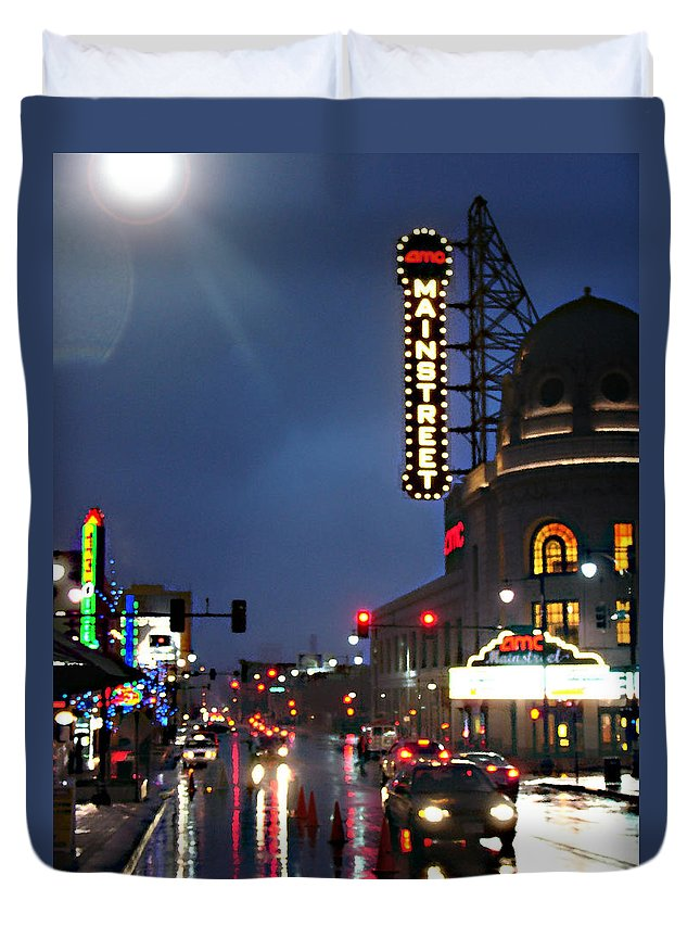 Landscape Duvet Cover featuring the photograph Main Street Kansas City by Steve Karol