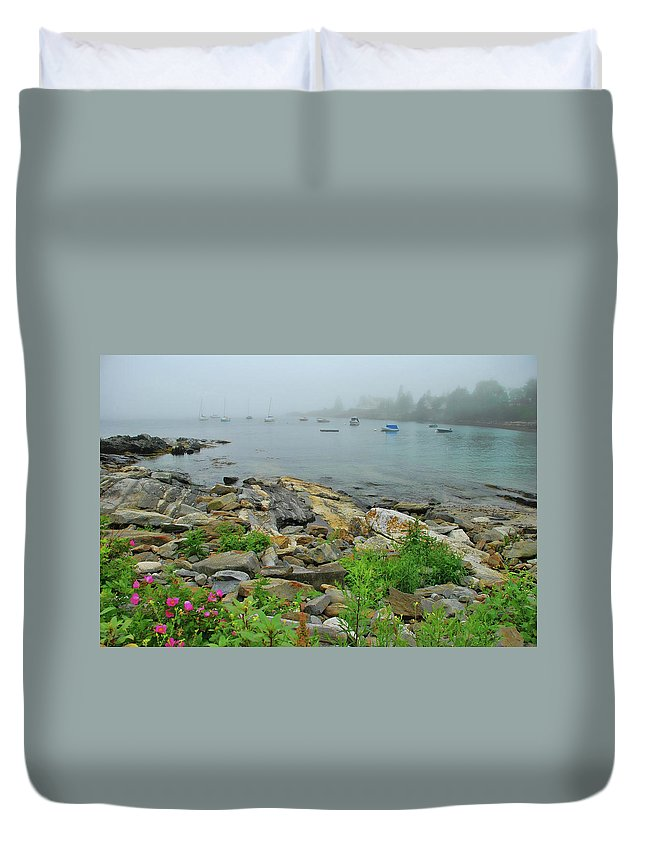 Maine Duvet Cover featuring the photograph Maine Cove by Allen Beatty
