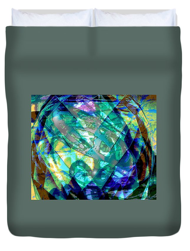 Abstract Duvet Cover featuring the digital art Mainspring Of Time by Seth Weaver