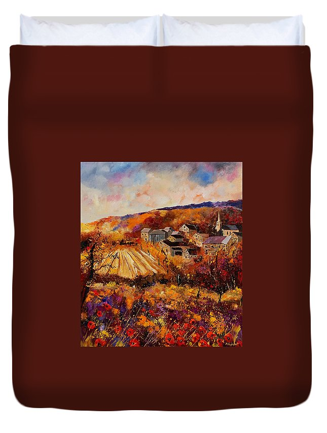 Poppies Duvet Cover featuring the painting Maissin by Pol Ledent