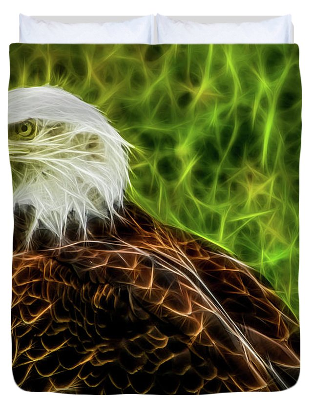 Bald Eagle Duvet Cover featuring the photograph Majestic Eagle by Joann Copeland-Paul