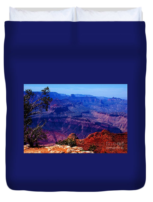 Majestic Duvet Cover featuring the photograph Majestic Grand Canyon by Susanne Van Hulst