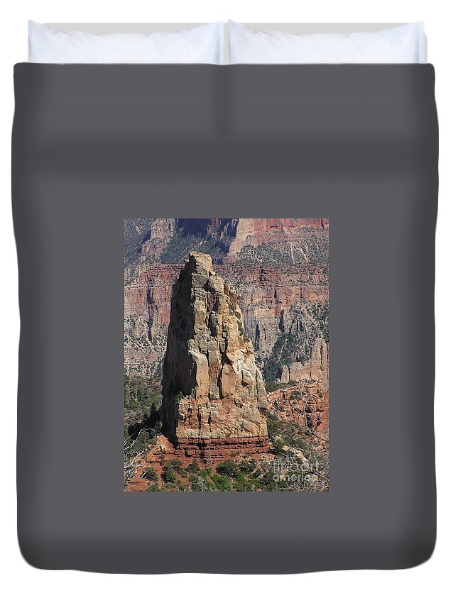 Rock Duvet Cover featuring the photograph Majestic by Louise Magno