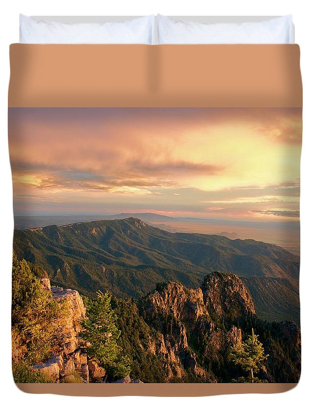 Mountains Duvet Cover featuring the photograph Majestic Mountain View by Dee Dee Whittle