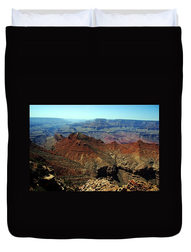 Grand Canyon Duvet Cover featuring the photograph Majestic View by Susanne Van Hulst