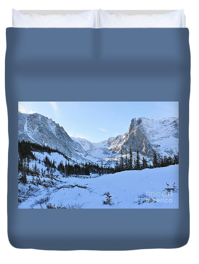 Nature Duvet Cover featuring the photograph Majestic Winter Landscape by Tonya Hance