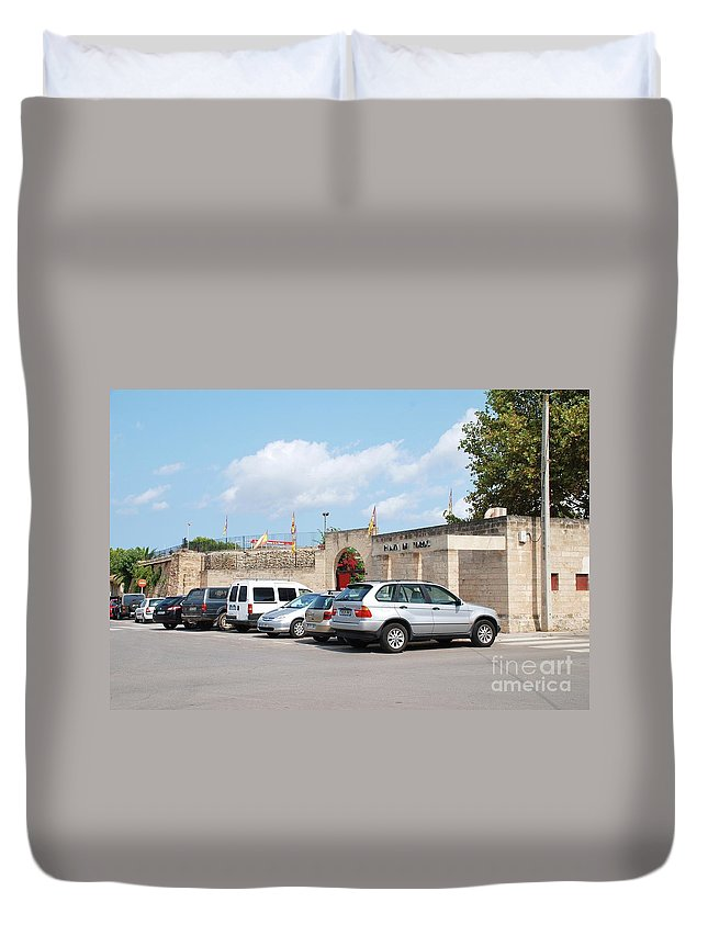 Alcudia Duvet Cover featuring the photograph Majorca Bullring At Alcudia by David Fowler