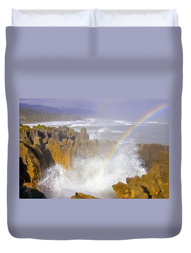 Paparoa Duvet Cover featuring the photograph Making Miracles by Mike Dawson