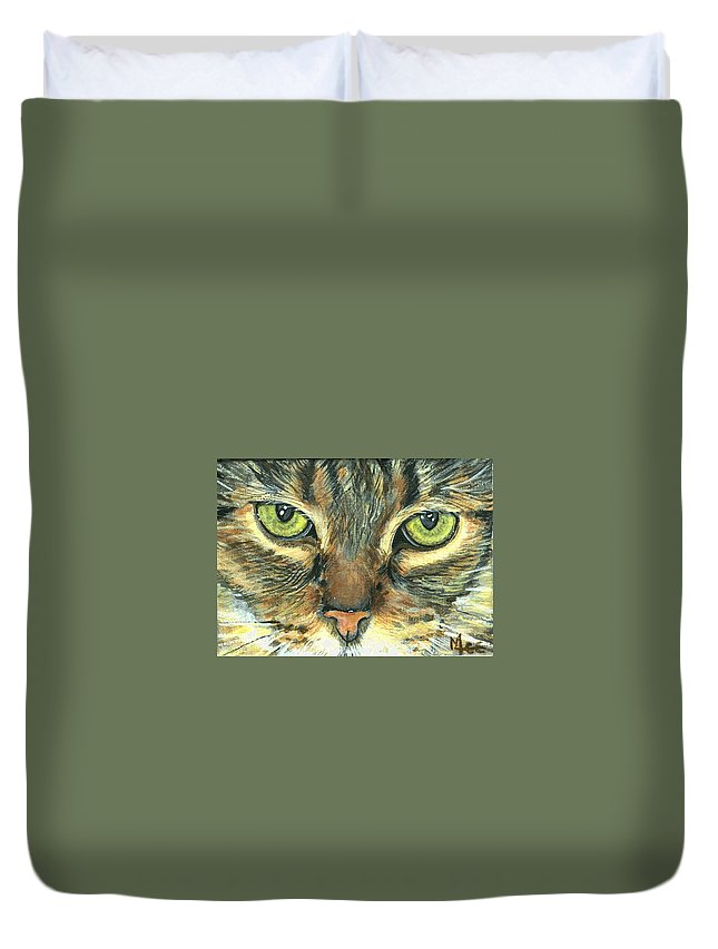 Charity Duvet Cover featuring the painting Malika by Mary-Lee Sanders