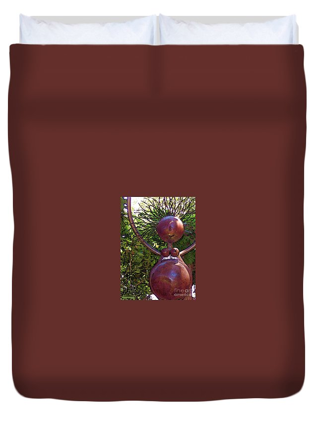 Sculpture Duvet Cover featuring the photograph Mama Tool by Debbi Granruth