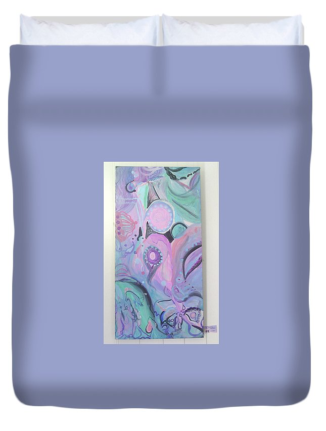 Duvet Cover featuring the painting Mama's Child by Subbora Jackson