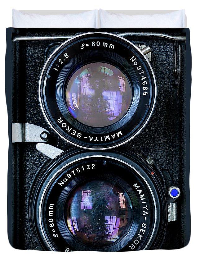 Mamiya Duvet Cover featuring the photograph Mamiya by Edgar Laureano