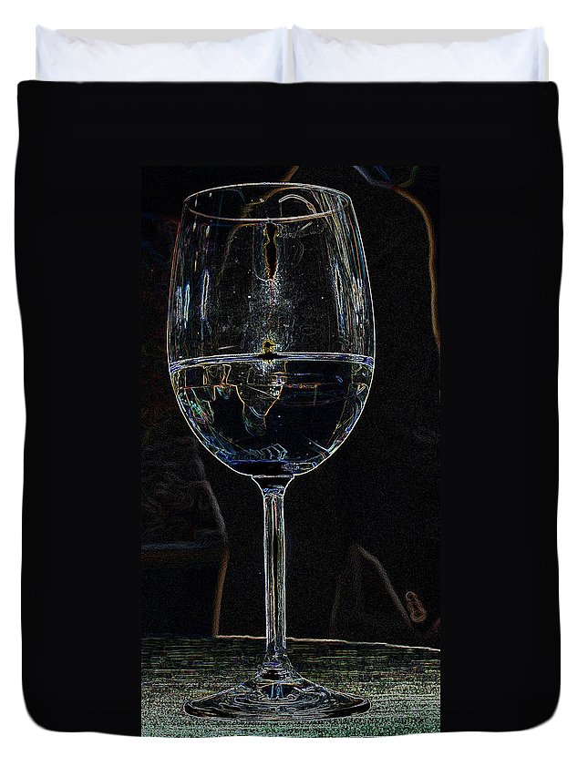Wine Duvet Cover featuring the photograph Man In A Glass by Ian MacDonald