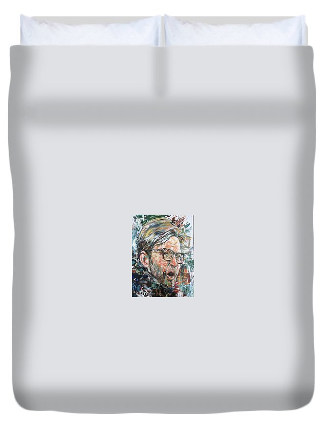 1000 Dollars Duvet Cover featuring the painting Manager by Niti Is a painter