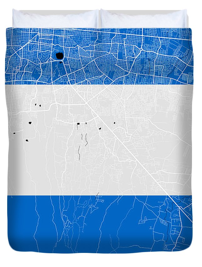 Managua street map managua nicaragua road map art on nicaragua road map duvet cover featuring the digital art managua street map managua nicaragua road map publicscrutiny Choice Image