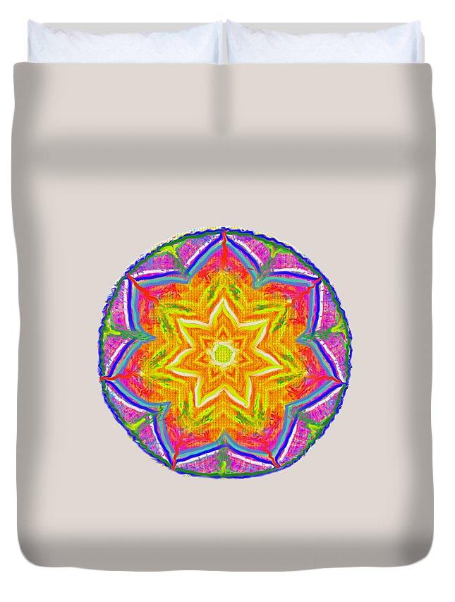 Mandala Duvet Cover featuring the painting Mandala 12 20 2015 by Hidden Mountain