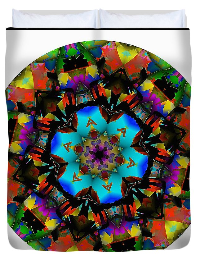 Talisman Duvet Cover featuring the digital art Mandala - Talisman 1101 - Order Your Talisman. by Marek Lutek