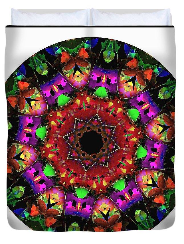 Talisman Duvet Cover featuring the digital art Mandala - Talisman 1102 - Order Your Talisman. by Marek Lutek
