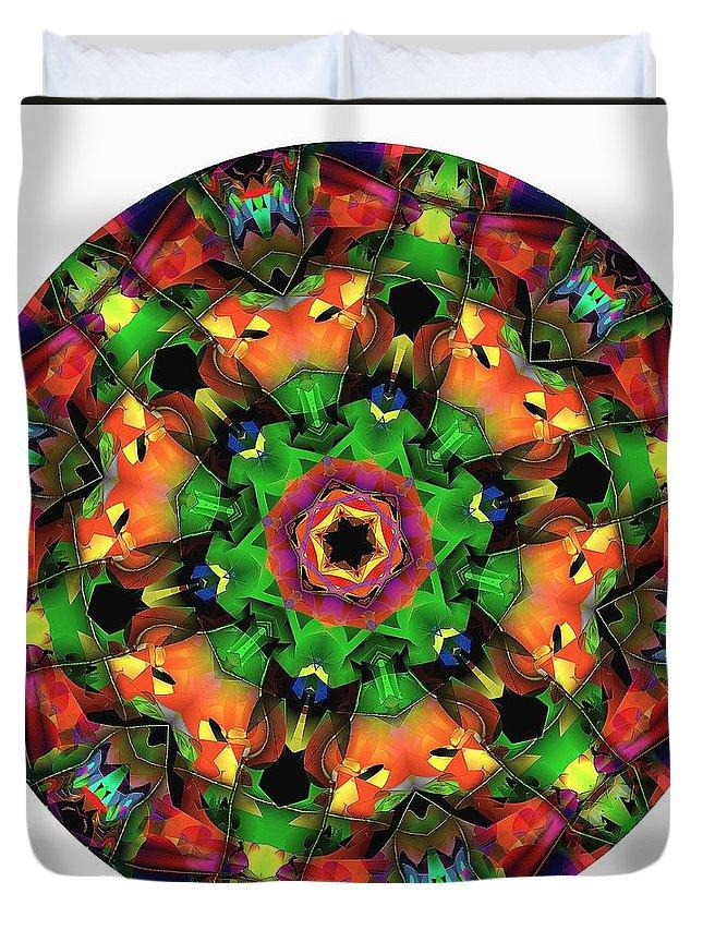 Talisman Duvet Cover featuring the digital art Mandala - Talisman 1106 - Order Your Talisman. by Marek Lutek