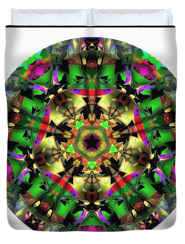 Talisman Duvet Cover featuring the digital art Mandala - Talisman 1107 - Order Your Talisman. by Marek Lutek