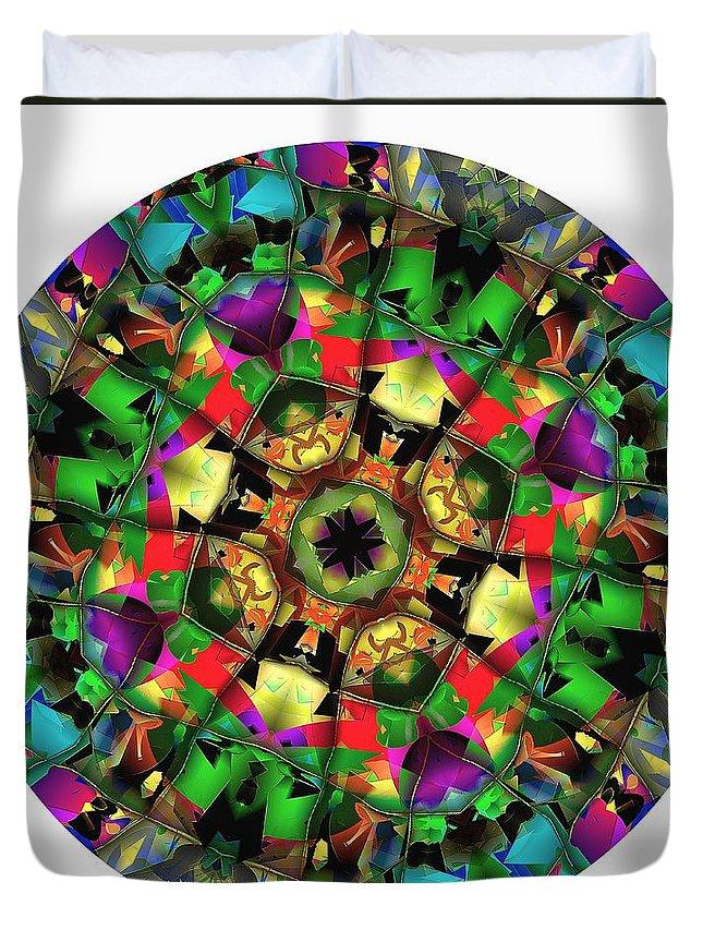 Talisman Duvet Cover featuring the digital art Mandala - Talisman 1108 - Order Your Talisman. by Marek Lutek