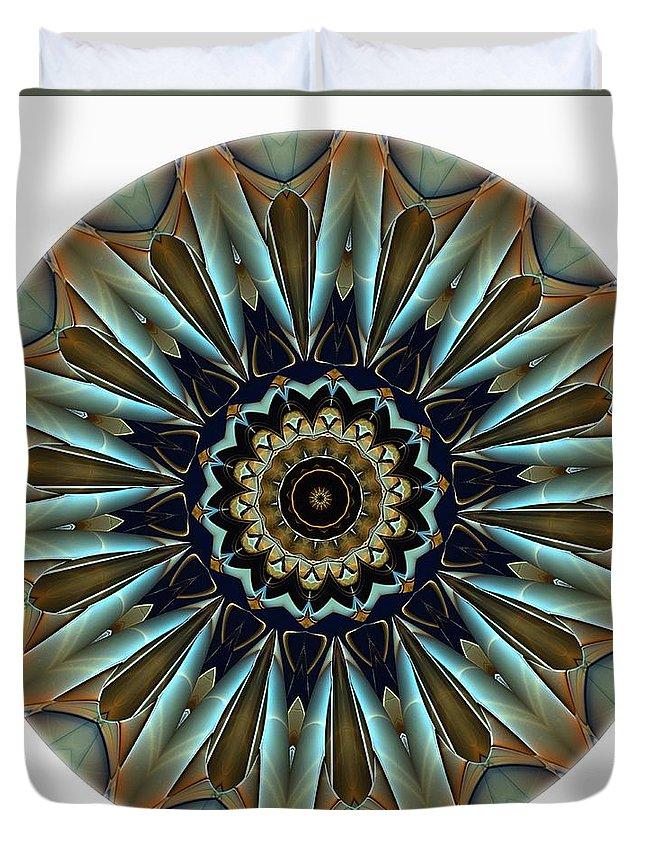 Talisman Duvet Cover featuring the digital art Mandala - Talisman 1457 by Marek Lutek