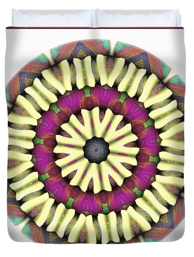 Talisman Duvet Cover featuring the digital art Mandala - Talisman 1685 by Marek Lutek