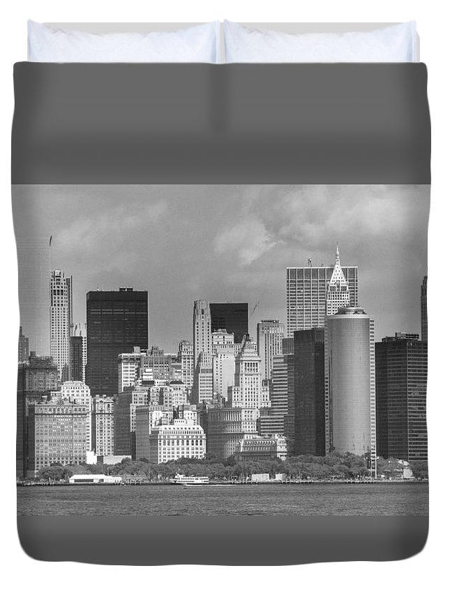 America Duvet Cover featuring the photograph Manhattan New York by FL collection