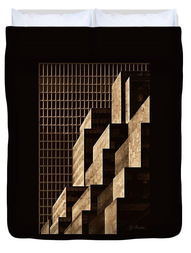 New York Duvet Cover featuring the digital art Manhattan No. 3 by Joe Bonita