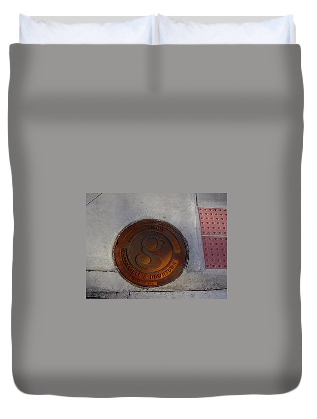 Manhole Duvet Cover featuring the photograph Manhole I by Flavia Westerwelle