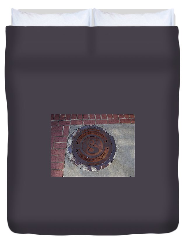 Manhole Duvet Cover featuring the photograph Manhole II by Flavia Westerwelle