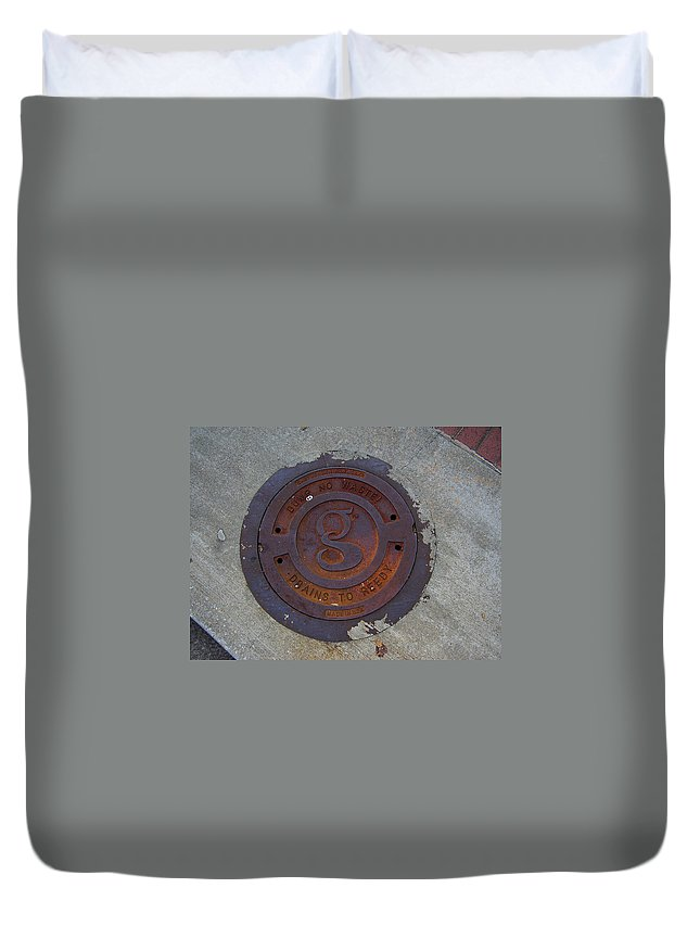 Manhole Duvet Cover featuring the photograph Manhole IIi by Flavia Westerwelle