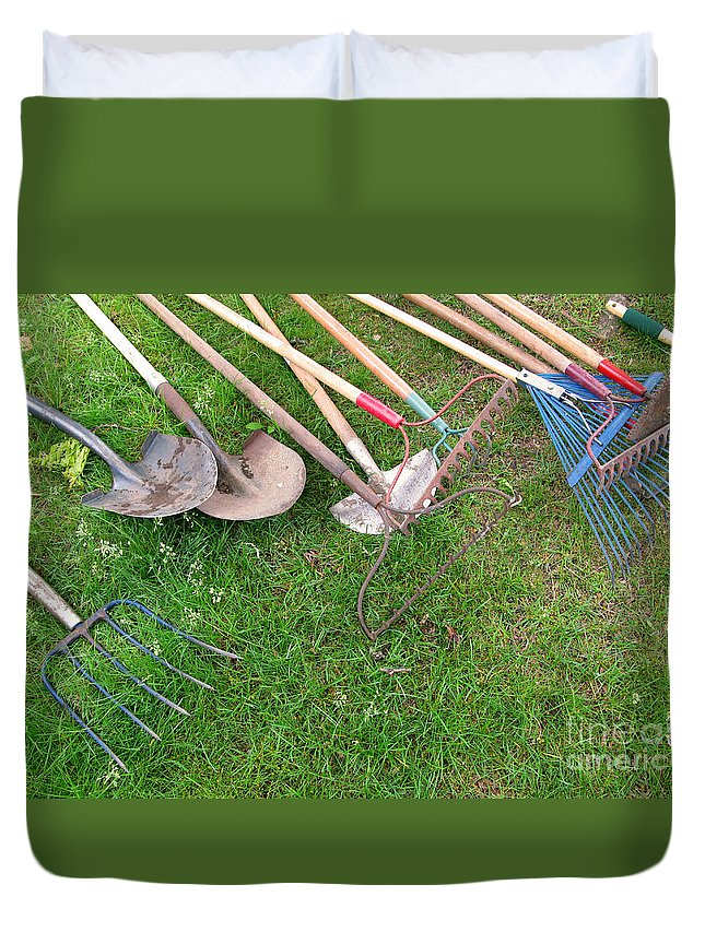 Tools Duvet Cover featuring the photograph Many Hands Make Light Work by Ann Horn