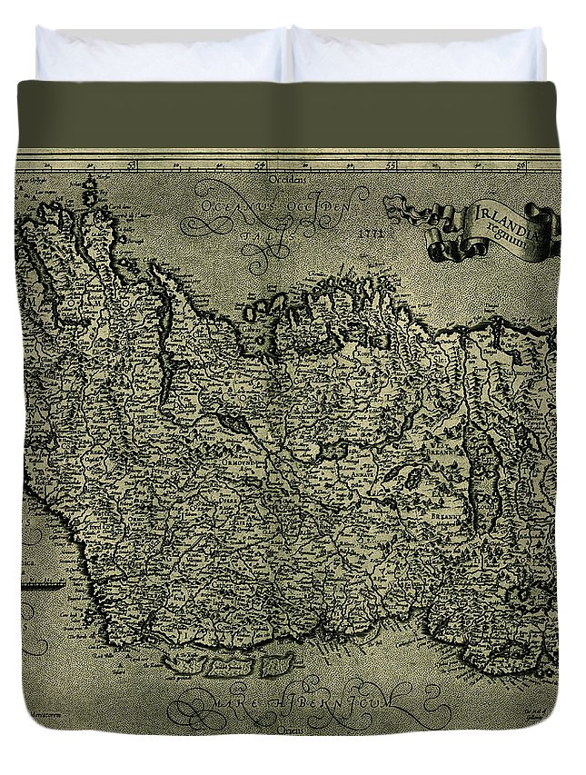 Map Of Ireland Duvet Cover featuring the photograph Map Of Ireland 1771 by Andrew Fare