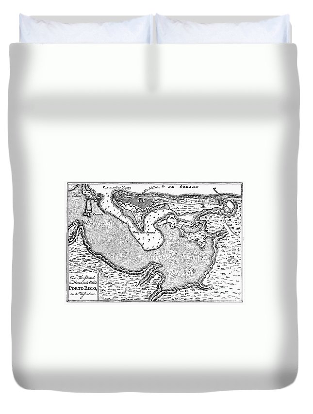 1766 Duvet Cover featuring the photograph Map Of San Juan, 1766 by Granger